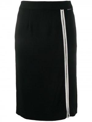 Юбка с молней спереди Karl Lagerfeld. Цвет: черный