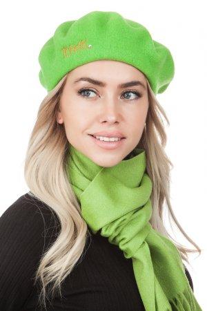 Комплект: берет, шарф Tonak. Цвет: зеленый