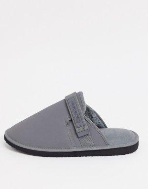 Серые тапочки-слиперы -Серый ASOS Unrvlld Supply