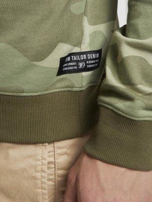 Свитшот TOM TAILOR. Цвет: зеленый