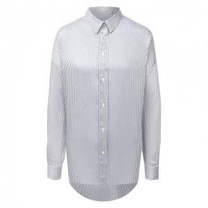 Рубашка из вискозы и шелка Iro. Цвет: бежевый