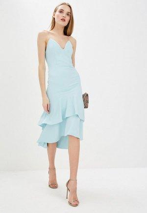 Платье Alice + Olivia. Цвет: голубой