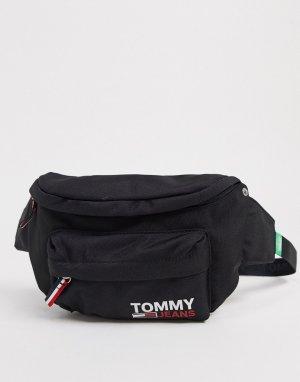 Черная сумка-кошелек на пояс с логотипом -Черный Tommy Jeans