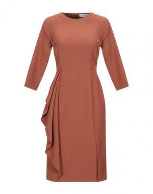 Платье до колена ANNA RACHELE. Цвет: коричневый