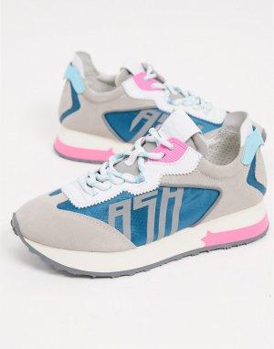 Кроссовки для бега в сером и разноцветных тонах ASH Tiger-Серый