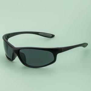 Мужские поляризованные велосипедные солнцезащитные очки SHEIN. Цвет: чёрный