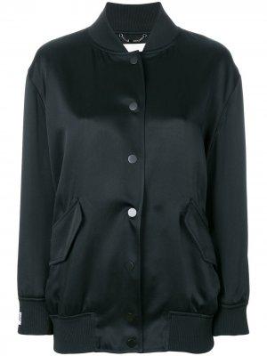 Куртка-бомбер с рисунком логотипом сзади Fendi. Цвет: черный