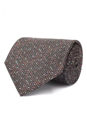 Комплект из галстука и платка Brioni. Цвет: синий
