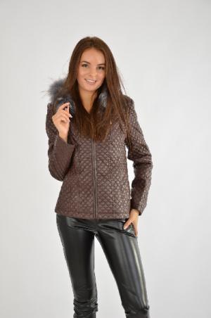 Куртка Zakia Amny. Цвет: коричневый