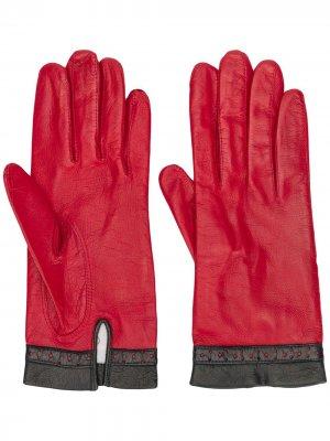 Перчатки с перфорацией Céline Pre-Owned. Цвет: красный
