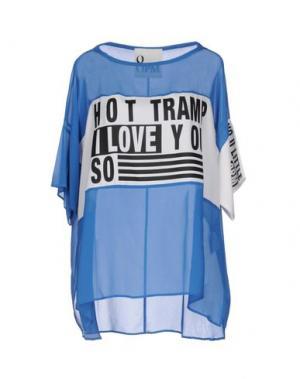 Блузка 8PM. Цвет: лазурный