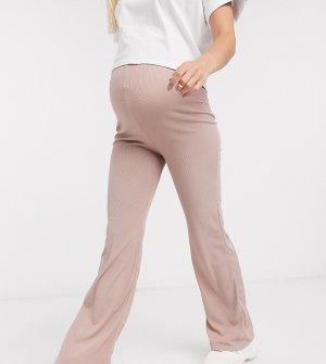 Кремовые широкие брюки от комплекта Club L London Maternity-Кремовый Maternity