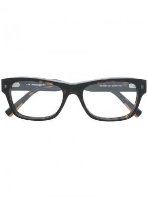 Tortoiseshell-effect square sunglasses Ermenegildo Zegna. Цвет: коричневый