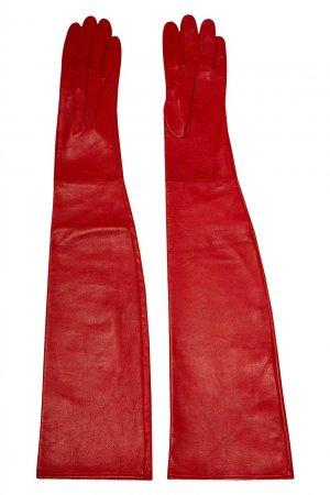 Перчатки красного цвета Chapurin. Цвет: красный