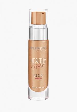 Праймер для лица Bourjois Healthy Mix Glow, 2 Vitamined Apricot, 15 мл. Цвет: бежевый