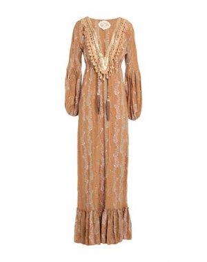 Длинное платье GADO by MARGRIET WAGERAAR. Цвет: верблюжий