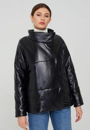 Куртка кожаная Suara Femme. Цвет: черный