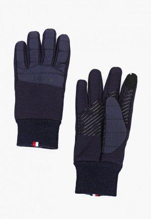 Перчатки Tommy Hilfiger. Цвет: синий