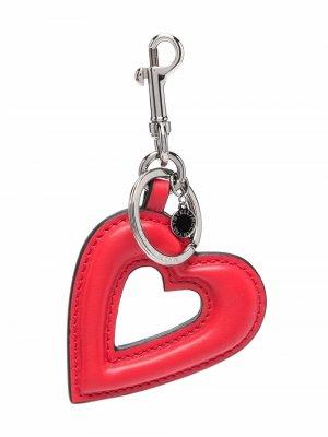 Heart-shaped artificial leather keychain Stella McCartney. Цвет: красный