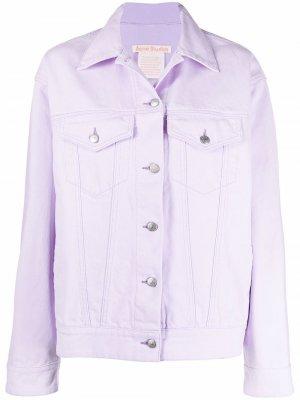 Джинсовая куртка Acne Studios. Цвет: фиолетовый