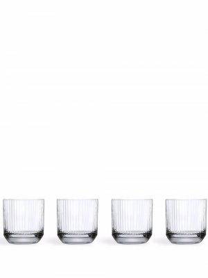 Набор Big Top из четырех бокалов для виски Nude. Цвет: белый