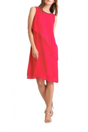 Шифоновое платье Apart. Цвет: розовый