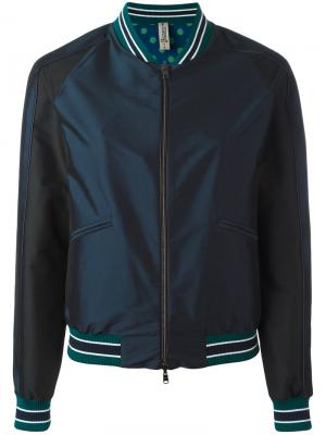 Однотонная куртка-бомбер Herno. Цвет: синий