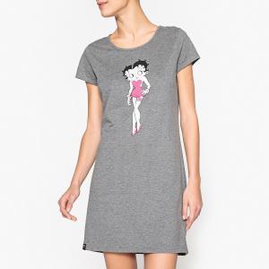Рубашка ночная Betty Boop. Цвет: серый