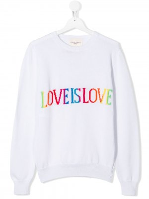Джемпер Love Is Alberta Ferretti Kids. Цвет: белый