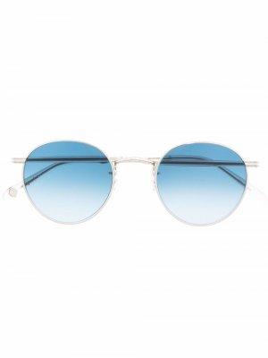 Солнцезащитные очки в круглой оправе Garrett Leight. Цвет: серый