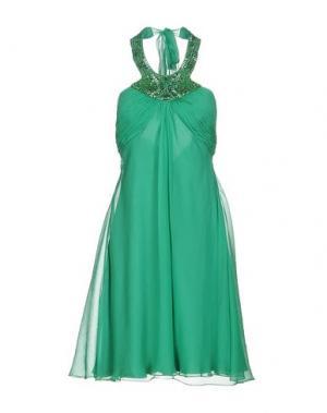 Короткое платье CARLO PIGNATELLI. Цвет: зеленый