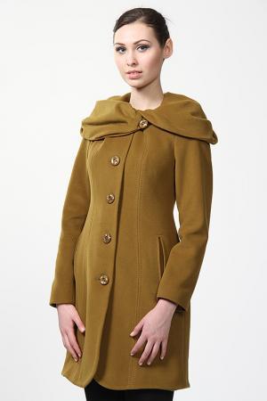 Пальто Exclusive. Цвет: табачный