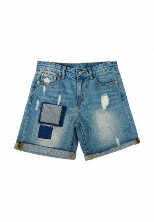 Шорты джинсовые Born. Цвет: голубой