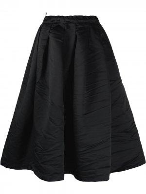 Юбка миди со складками Comme Des Garçons Girl. Цвет: черный