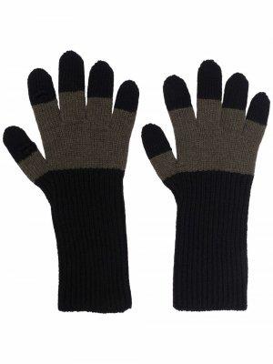 Colour block gloves Homme Plissé Issey Miyake. Цвет: черный