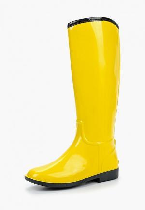 Резиновые сапоги Anra. Цвет: желтый