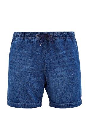 Джинсовые шорты с эластичным поясом на кулиске POLO RALPH LAUREN. Цвет: синий