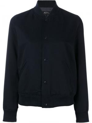 Classic bomber jacket A.P.C.. Цвет: синий