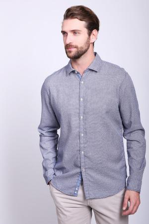Рубашка с длинным рукавом Cinque. Цвет: синий