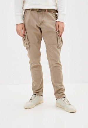 Брюки Indicode Jeans. Цвет: бежевый