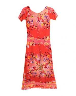 Длинное платье FUZZI. Цвет: оранжевый