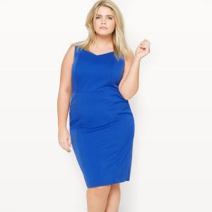 Платье офисное без рукавов CASTALUNA. Цвет: синий