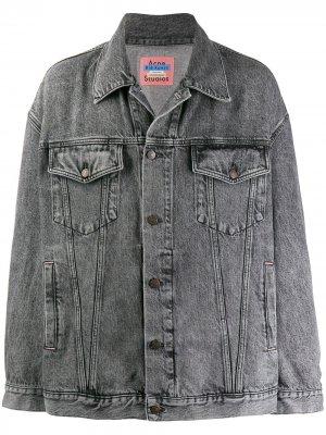Джинсовая куртка оверсайз Acne Studios. Цвет: серый