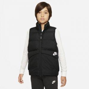 Жилет с синтетическим наполнителем для школьников Sportswear - Черный Nike
