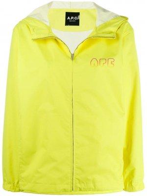 Ветровка с логотипом A.P.C.. Цвет: желтый