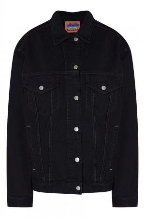 Джинсовая куртка черного цвета Acne Studios. Цвет: черный