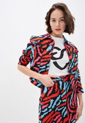 Куртка джинсовая Escada Sport. Цвет: разноцветный