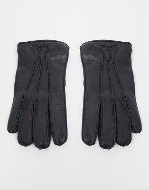 Перчатки из искусственной зернистой кожи -Черный Bolongaro Trevor