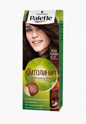 Краска для волос Palette 700 Каштановый. Цвет: коричневый