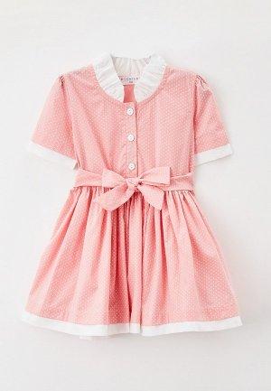 Платье Ete Children. Цвет: розовый